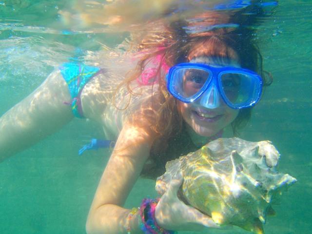 Hannah Snorkeling
