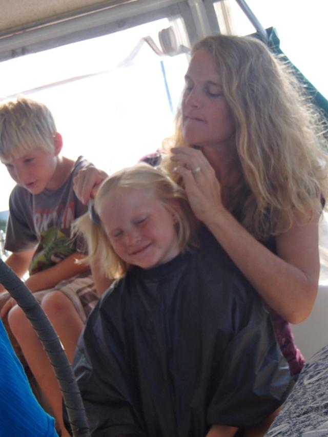 Giving Bella a Haircut
