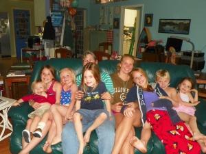 Aunt Joyce & cousins